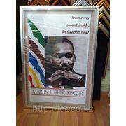 Постер в раме с 3D эффектом, Мартин Лютер Кинг фото