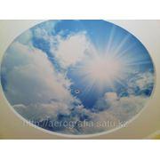 Покраска потолка рисунком неба в Алматы фото