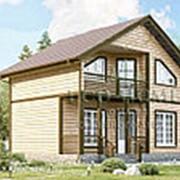 Дом из проф. бруса 6х8 с террасой и балконом Д-5 фото