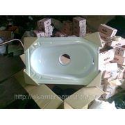 Чаша Генуя стальная эмалированная с центральным сливом в комплекте с сифоном и рассекателем фото