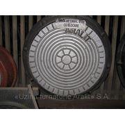 Люк чугунный канализационный Ф560мм «U» (легкого типа) фото