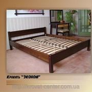 Кровать Эконом - 2, тумбочки, комод (массив - сосна, ольха, дуб) фото