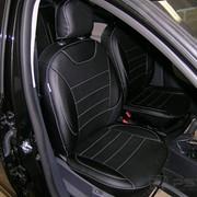 Чехлы Renault Logan 14 дел черный эко-кожа Оригинал фото