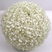 Искусственный самшит шар белый, d 53 см фото
