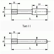 Головки шлифовальные из кубического нитрида бора (КНБ) на керамической связке формы AW фото