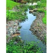 Строительство водоемов, каскадов, ручьев фото