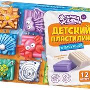 Пластилин детский ЖЕМЧУЖНЫЙ 6,9,12 цветов фото
