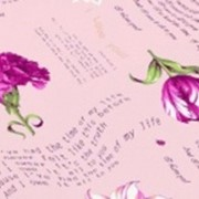 Ткань постельная Бязь 100 гр/м2 150 см Набивная Тет-а-тет розовый/S852 TDT фото