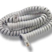 Шнур телефонный витой белый ВШ-4/4 Импортный разъем Джек-Джек 4м фото