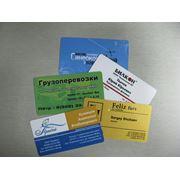 Печать визиток на пластике фото