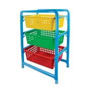 Этажерка детская для игрушек 3-х секционный (450х310х640) фото