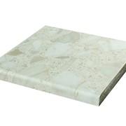 Столешница 26/38 мм длина 1,5/3 м, белые камни (глянец) фото