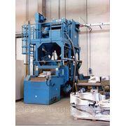 CWB: дробемет с ленточным конвейером из металлической сетки. фото
