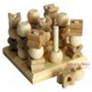Деревянные игрушки Трехмерные Крестики-Нолики фото