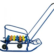 Санимобиль с выдвижными колесами синие фото