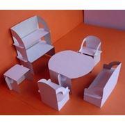 Конструктор-раскраска из картона набор Гостиная 2 (белый) фото