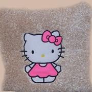 Подушка декоративная Китти №2 кудрявая фото