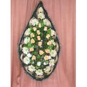 Венок похоронный/размер: 150-60 фото