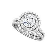 Кольцо классическое с бриллиантами SI1/G 1.60Ct фото