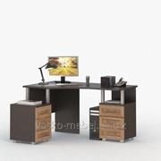 Стол письменный, компьютерный СОЛО-025 Корпус венге, фасад слива/слива