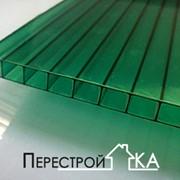 Поликарбонат сотовый Sellex 06 мм зеленый фото