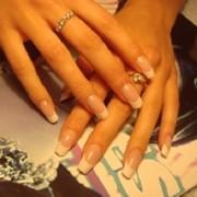 Акриловое наращивание ногтей фото