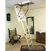 Лестница чердачная деревянная 130смх70см фото