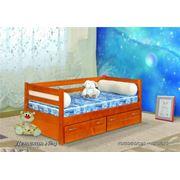 Кровать Детская№4 (одноярусная) с 2 ящиками 90х190/200 материал: сосна фото