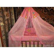 кроватка деревянная детская для девочки. фото