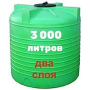 Резервуар для хранения воды и дизеля 3000 литров, зеленый, верт фото