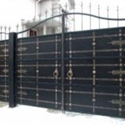 Ворота кованые Украина фото