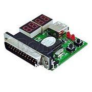 POST карта для ноутбуков USB и LPT интерфейс четырехсегментный индикатор фото
