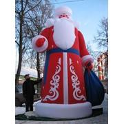 Зимние надувные фигуры - Дед Мороз, Снегурочка, Снеговик фото
