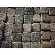 Брусчатка пиленная песчаник Луганский 100*100*20-30мм фото
