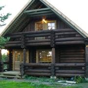 Изготовление бревенчатых домов фото