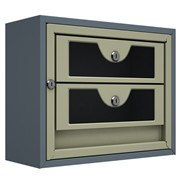 Антивандальный почтовый ящик Титанит-М-2, серый