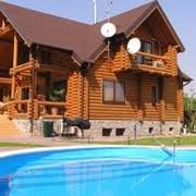 Строительство загородных деревянных домов фото