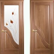 Дверь из бруса Новый стиль Амата золотая ольха фото