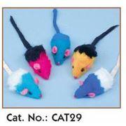 Игрушки для кошек - Мыши малые двухцветные фото