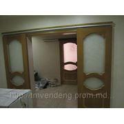 Утановка раздвижных дверей фото