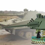 Боевое отделение модернизированного легкого плавающего танка ПТ-76Б с 57-мм автоматической пушкой фото