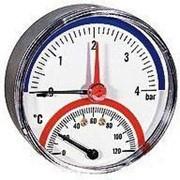 Термоманометр аксиальный Tmax Watts (Ваттс) 0-120°, 0-10 бар, 1/2 фото