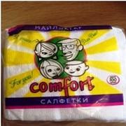 """Б003 """"Comfort"""" серия ЭКО салфетки (100 штук в упаковке)-1 упаковка (100% ЦЕЛЛЮЛОЗА). фото"""