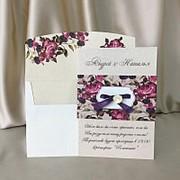 Красочные приглашения на свадьбу (арт. 4012) фото