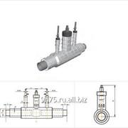 Кран шаровой с двумя воздушниками стальной в оцинкованной трубе-оболочке d=159 мм, s=4,5 мм, L=2550 мм фото