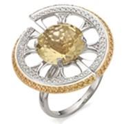 Кольцо из белого золота фото