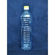 Тара ПЭТ: бутылка-нахлобучка 1л с крышкой в комплекте фото