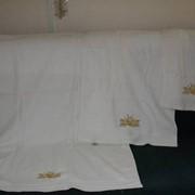 Нанесение логотипа методом вышивки на любые изделия (полотенца, тапочки, халаты, постельное белье) фото