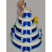 Торт из памперсов для мальчика фото