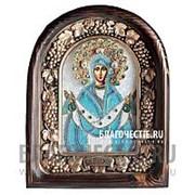 Дивеевские золотошвейные мастерские Покров Богородицы, дивеевская икона ручной работы из бисера Высота иконы 61 см фото